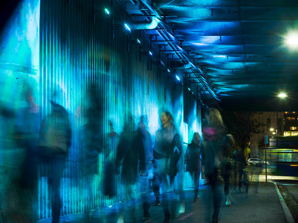 The eighth annual CODAawards public art competition winners were recognized recently including three Canadian teams from Toronto, British Columbia and Edmonton. Pictured is Sea Change, designed by Jill Anholt Studio, an interactive light-based artwork that activates the pedestrian experience within a bus exchange transit tunnel in North Vancouver. The installation won in the transportation category.