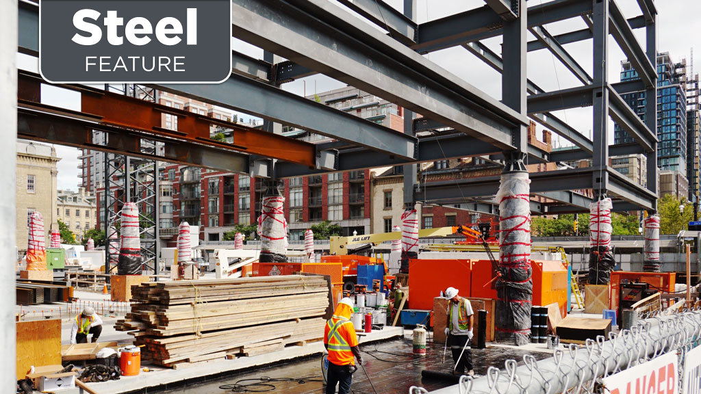 Steel integral to new St. Lawrence Market North building