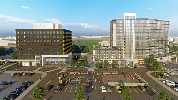 Work on the second phase of Calgary's UXBorough project, which will include a 189-room hotel, grocery store with residential units above it, and a large-scale office building, will begin before the initial phase is completed.