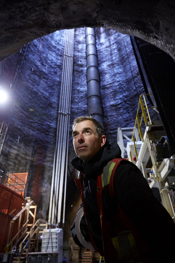 Mike Davidson, host of the new series Impossible Repairs, ventured 260 feet below the city of Toronto to take a closer look at the Ashbridge's Bay Treatment Plant Outfall, a multimillion-dollar tunnel boring project on a wastewater treatment plant, during an episode entitled Big City Tunnel Boring.