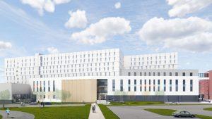 亨伯学院的文化中心结合了钢、大量的木材和混凝土