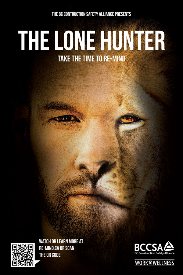 The Lone Hunter video features a construction worker who by day is seen by peers as a leader and larger-than-life worker but by night is troubled with feelings of despair.