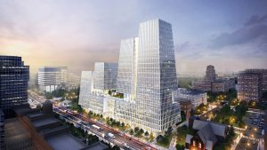 First of two U of T towers rises, creating Canada's largest innovation centre