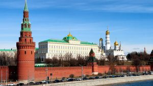 Kremlin wall 'tooth' broken by collapsing scaffolding